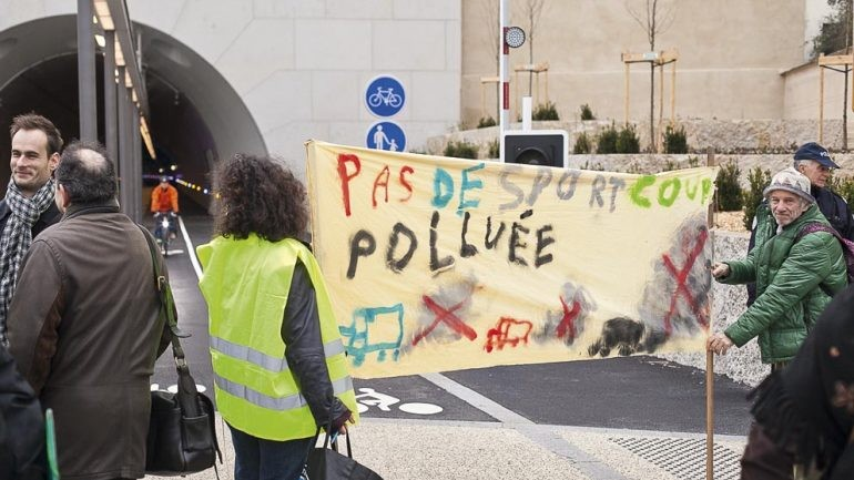 Manifestation Tunnel Croix-Rousse